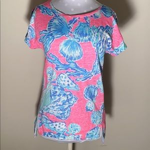 LILLY PULITZER SEASHELL PATTERN TOP